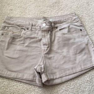 Faded glory khaki shorts